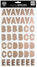 MAMBI Stickers- Alphabet- Ava Rose Gold Foil