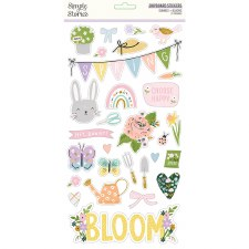 Bunnies + Blooms Chipboard