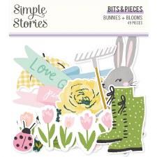Bunnies + Blooms Die Cuts- Bits + Pieces