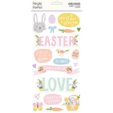 Bunnies + Blooms Stickers- Foam