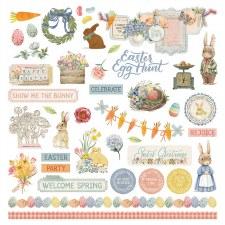 Bunnies + Blooms Sticker Sheet