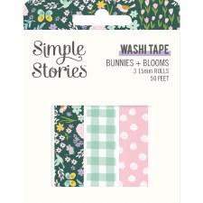 Bunnies + Blooms Washi Tape, 3pk