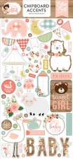Baby Girl Chipboard Accents