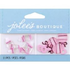 Jolee's Baby Dimensional Embellishments- Baby Girl Bottles & Rattles