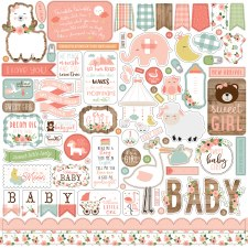 Baby Girl Stickers- 12x12 Sheet