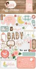 Baby Girl Stickers- Puffy