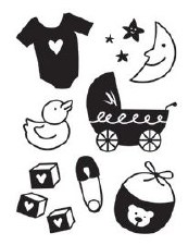 Darice Embossing Folder- Baby Icons