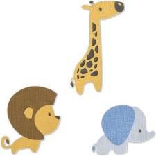 Sizzix Thinlits- Baby Jungle Animals