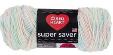 Red Heart Super Saver Yarn, Mulit-Color- Baby Print