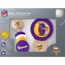 Baby Rattle Set- Minnesota Vikings