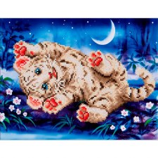 Diamond Facet Art Kit- Baby Tiger Roly Poly