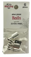 Nicole's Bead Shop- Silver Plated Bails, 6ct