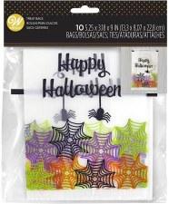 Halloween Baking- Happy Halloween Clear Treat Bags, 10ct