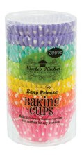 Baking Cups, 300ct- Pastel Polka Dots