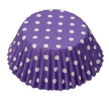 Baking Cups, 75ct- Polka Dot Purple