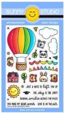 Sunny Studio Balloon Ride Clear Stamp Set
