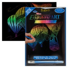 Engraving Art Foil Set- Rainbow Balloon Ride