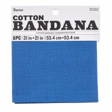 "Cotton Bandana 21""x21""- Solid Royal Blue"