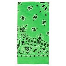 """Bandana, 22""""x22""""- Paisley Lime Green"""