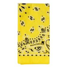 """Paisley Bandana 22""""x22""""""""- Neon Yellow"""