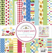 Bar-B-Cute 12x12 Paper Pack