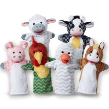 Melissa & Doug Hand Puppets- Barn Buddies