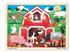 Melissa & Doug Jigsaw Puzzle- Barnyard 24 pc