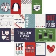 Baseball 12x12 Paper- Journaling Cards
