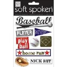 MAMBI Soft Spoken Stickers- Baseball- Play Ball