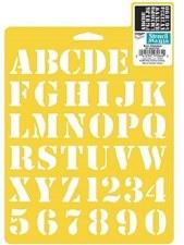Stencil Mania 7x10 Stencil- Alphabet, Basic