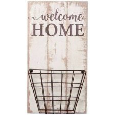 Pallet Decor w/ Basket- Welcome Home
