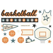 Simple Pages: Page Pieces Die Cuts- Basketball