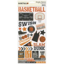 Basketball 6x12 Sticker