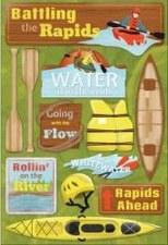 Cardstock Stickers- Battling the Rapids
