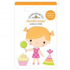 Hey Cupcake Doodle-Pops Stickers- Bday Girl