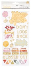 Dear Lizzy It's All Good Stickers- Phrase Chipboard Thickers
