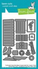 Lawn Fawn 3D Craft Dies- Scalloped Treat Box Add-On, Beach House