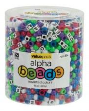 Bead Tub, 1lb- Pony Bead & Alphabet Bead Assortment