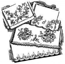 Aunt Martha's Iron On Transfers- Beautiful Floral Motifs #3111
