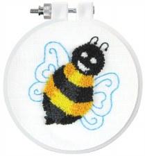 "Punch Needle Kit w/ Hoop, 3.5""- Bee"