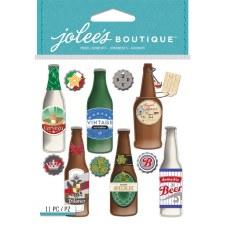 Jolee's Food & Drink Dimensional Stickers- Beer Bottles