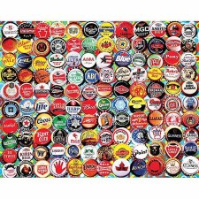 Beer bottle Caps - 550 piece puzzle