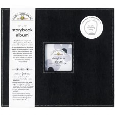 Doodlebug 12x12 Storybook 3-Ring Album- Beetle Black