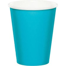 Touch of Color 9oz Paper Cups, 24ct- Bermuda Blue