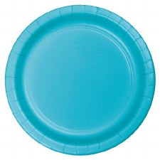 """Touch of Color 7"""" Paper Plate, 24ct- Bermuda Blue"""
