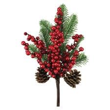 "13"" Berry Pine Pick"