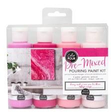 Color Pour Pre-Mixed Pouring Paint Kit- Berry Rush