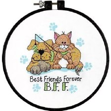 "Dimensions ""Learn a Craft"" Cross Stitch Kit- Best Friends Forever"