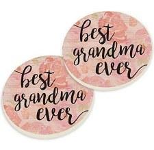 Car Coasters, 2pk- Grandma