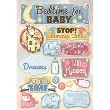 Cardstock Stickers- Bedtime for Baby